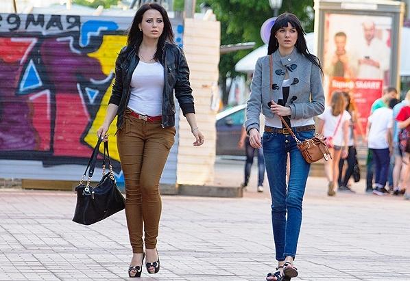 Pretty women in big cities of Ukraine